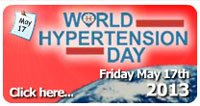 World Hypertension Day - 17th May 2013 - Světový den hypertenze