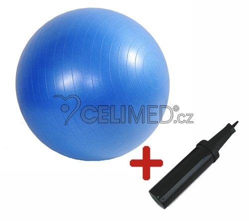 Míč GYMY ABS zesílený - modrý, průměr 75 cm +hustilka NAVÍC!
