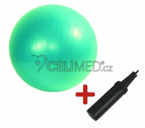 Míč GYMY ABS zesílený - zelený, průměr 65 cm +hustilka NAVÍC!