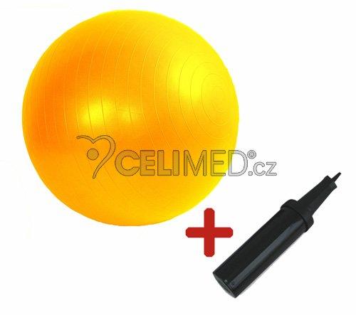 Míč GYMY ABS zesílený - žlutý, průměr 45 cm +hustilka NAVÍC!