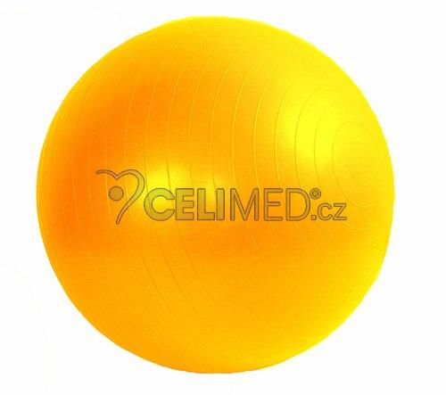 Míč GYMY ABS zesílený - žlutý, průměr 65 cm