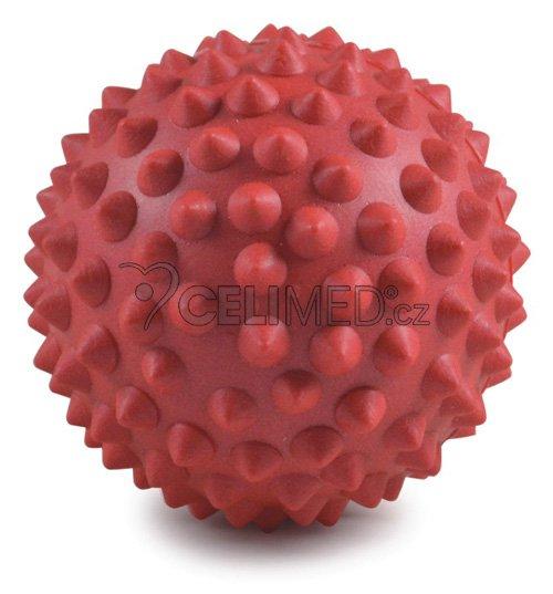 Míček Gymy masážní s výstupky, průměr 9cm -červený