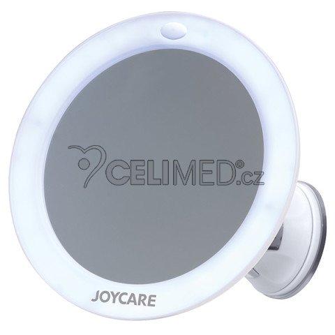 JC-318 Kosmetické zrcátko JOYCARE s LED osvětlením, upevnění na hladkou zeď (dlaždičky/zrcadlo apod.)