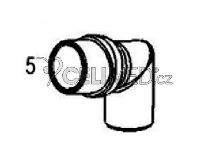 Spojka k náustku, masce nebo nosnímu inhal. nástavci -JC-117