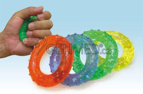 Kroužky gelové. posilovací - masážní  Gymy, 7cm -Zelené (STŘEDNÍ)