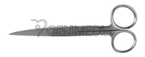 6-0051-B Nůžky zahnuté, hrotnaté 13 cm