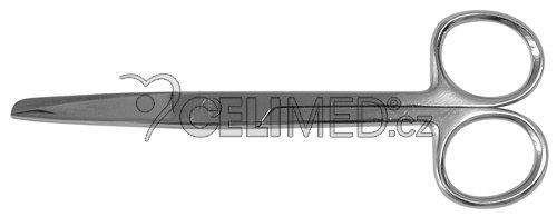 Nůžky rovné, hrotnato-tupé 11,5 cm