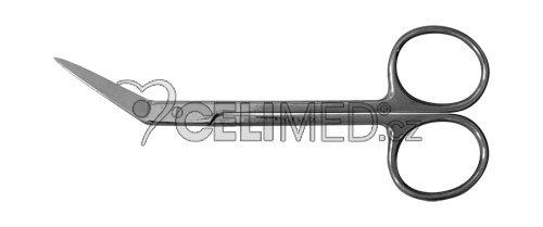 SI-022 Nůžky lomené hrotnaté, 12cm