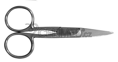 SI-025 Nůžky do lékárničky rovné, hrotnaté 9cm