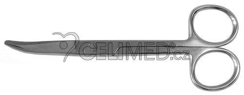6-0053-A Nůžky zahnuté, hrotnato-tupé 15 cm