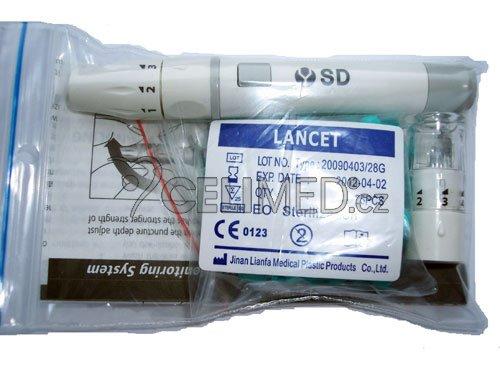 SD odběrové pero (autolanceta) +25jehliček