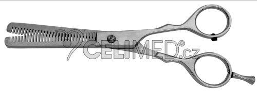 """M-SG-127 Nůžky na vlasy - efilační s opěrkou 6,5"""", 16 cm, matné"""