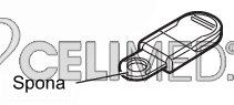 Spona k řemínku pro OMRON HJ-113-E,HJ-203-E a HJ-720-E