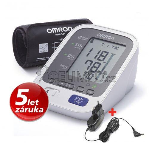Tonometr OMRON M6 Comfort s Intelli manžetou +ZDROJ (SET)