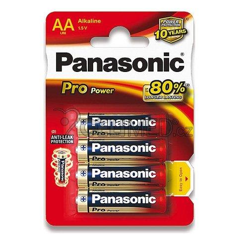 Alkalické baterie PANASONIC, typ AA, 4ks