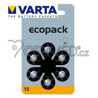 Baterie VARTA do naslouchadel PR10 , balení 6ks