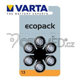 Baterie VARTA do naslouchadel PR13 , balení 6ks