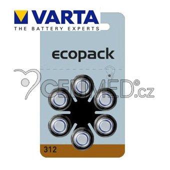 Baterie VARTA do naslouchadel PR312 , balení 6ks