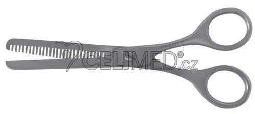 """M-SG-126 Nůžky na vlasy - efilační 5,5"""", matné 14 cm s opěrkou"""